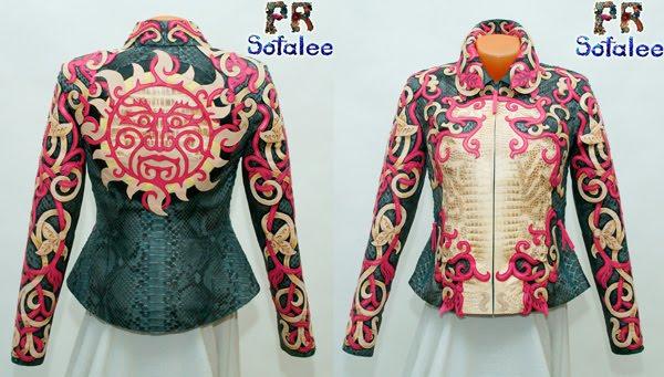 "№193 Jacket from genuine python real crocodile skin for women ""Melania"""