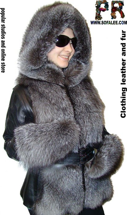 "№52 Женская куртка чернобурка ""Мэри"""
