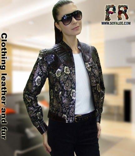 "№45 Womens jacket crocodile leather ""Tyss"""