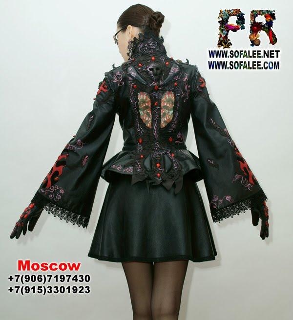 """№162 Роскошный женский костюм юбочный из натуральной кожи """"Beatrice"""""""