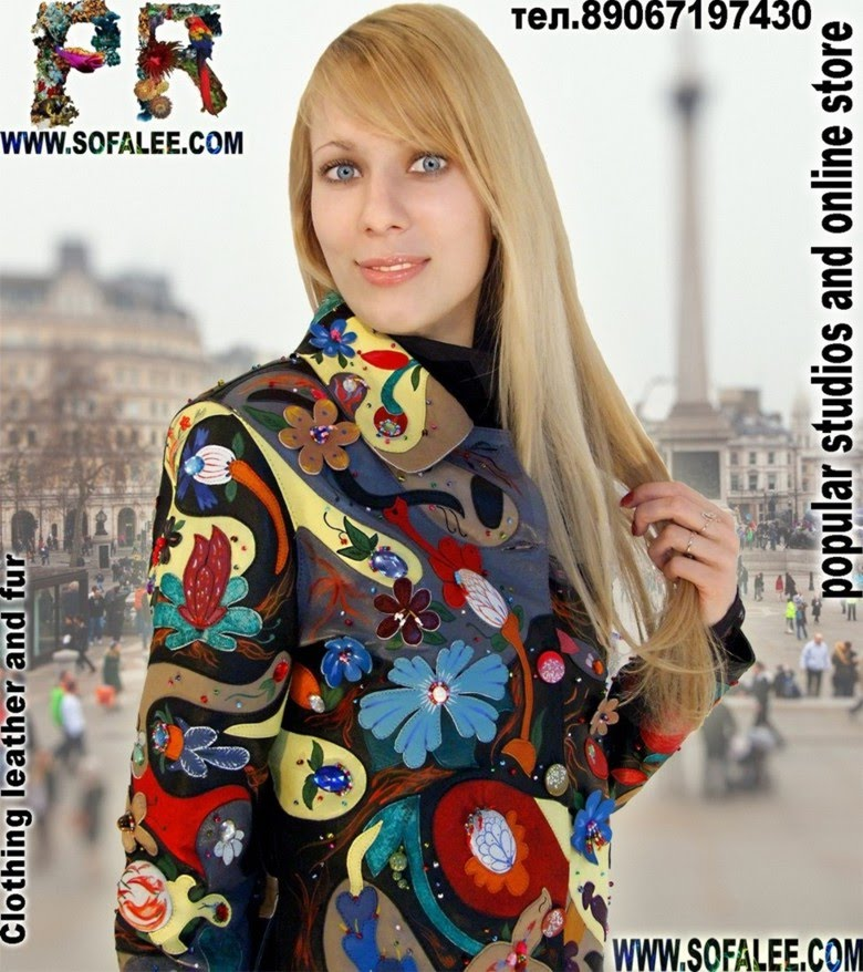 Exclusive jacket with flowers for ladies