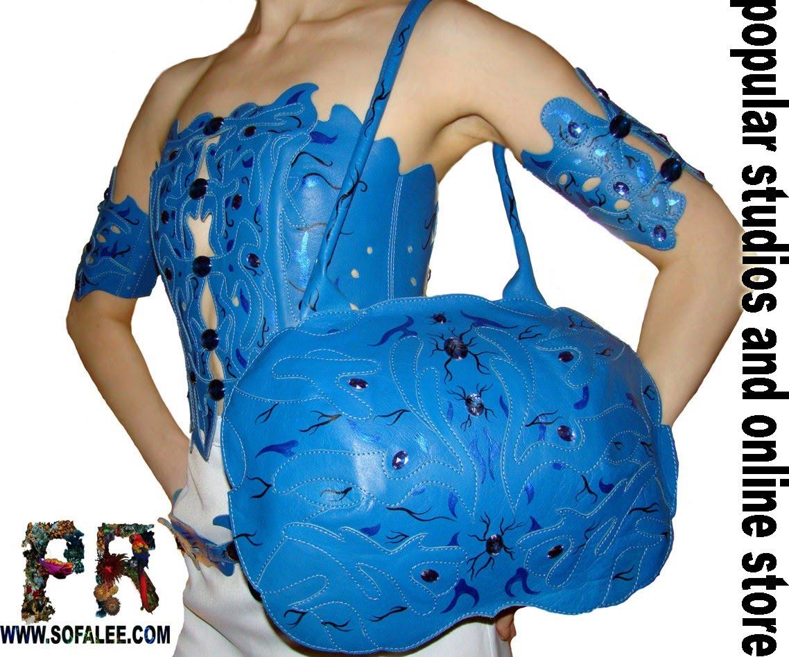 эксклюзивная кожаная женская сумка