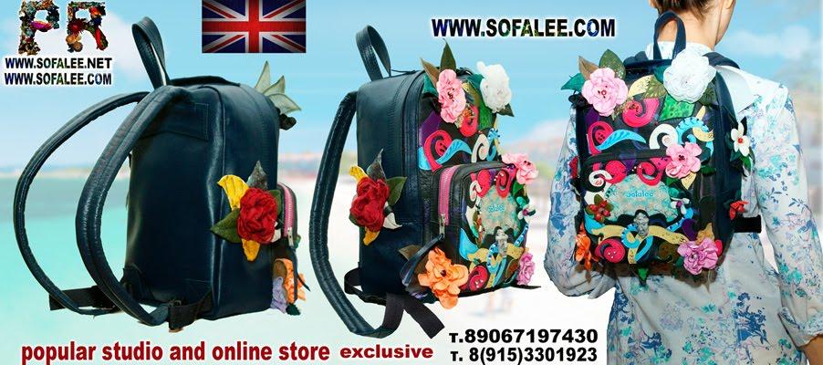 №197 Luxury genuine leather backpack for ladies BP57