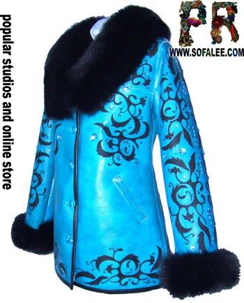 "№22 Sheepskin coat womens ""Yersy"""