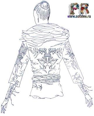 эскиз куртки из натуральной кожи 2