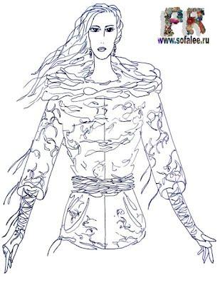 эскиз куртки из натуральной кожи 1