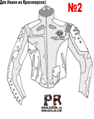 Эскиз фасона кожаной куртки