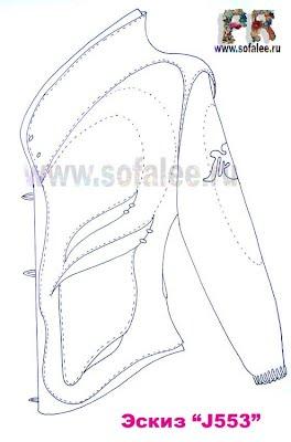 эскиз куртки из натуральной кожи 01