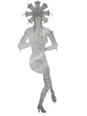 эскиз костюма танца