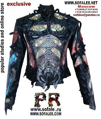 эксклюзивная кожаная куртка в стиле рок 11