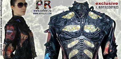 эксклюзивная кожаная куртка в стиле рок 16
