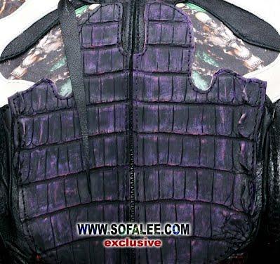 куртка из кожи крокодила питона ската 6