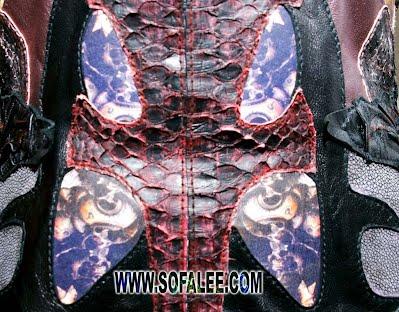 куртка из кожи крокодила питона ската 5
