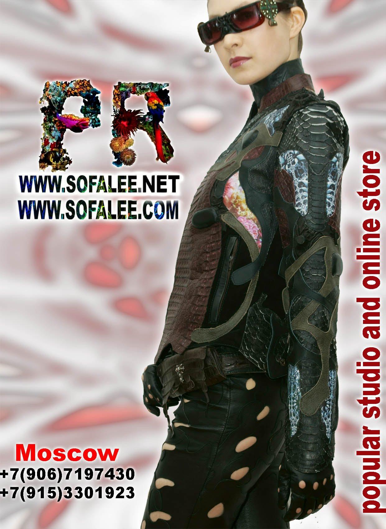 куртки кожаные из крокодила питона 13