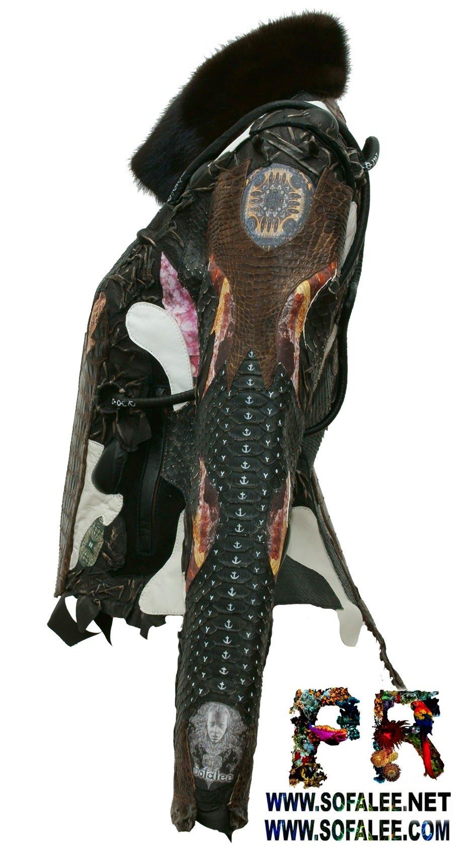 курточка из аллигатора питона ската 000000