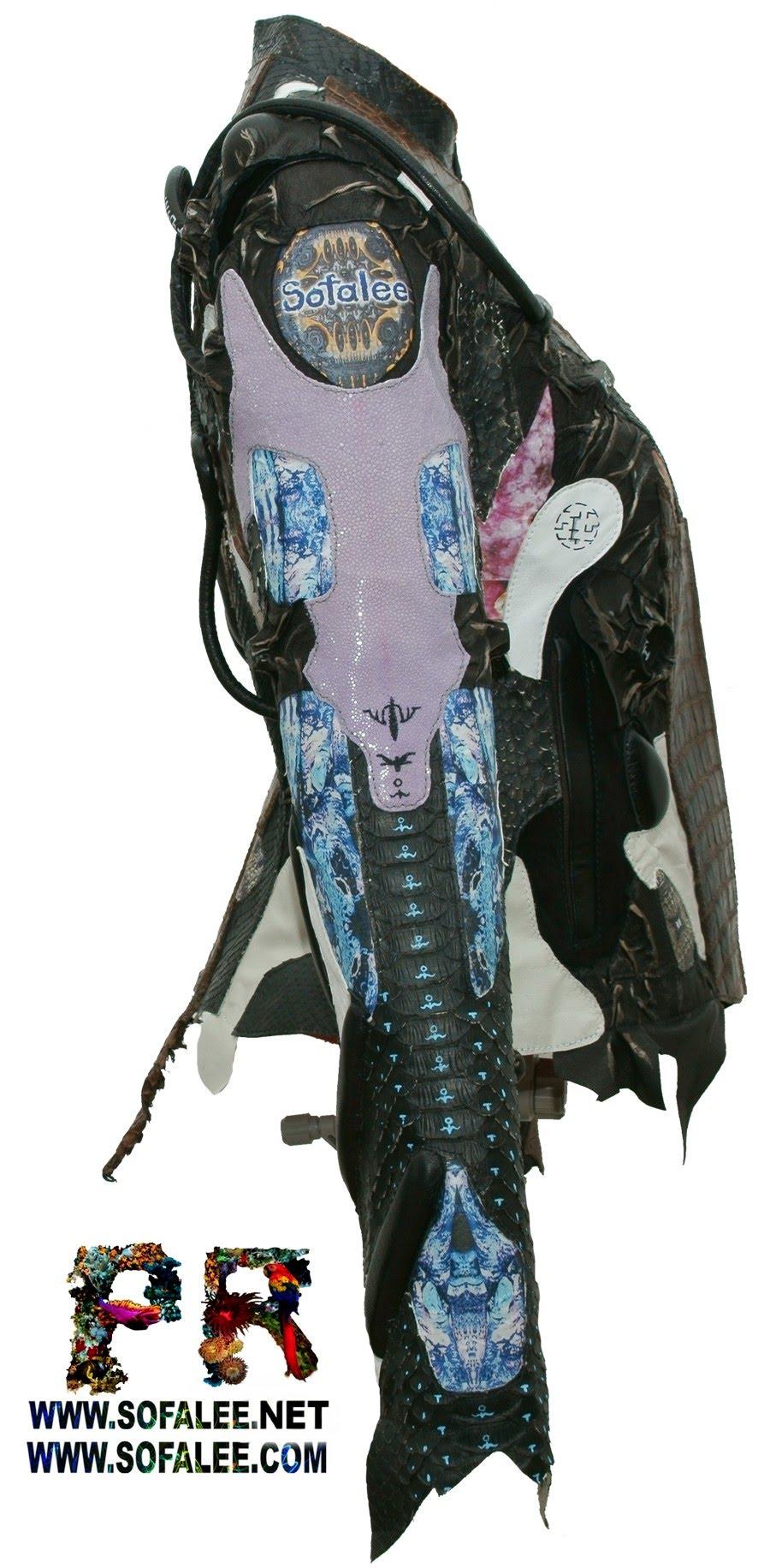 курточка из аллигатора питона ската 05