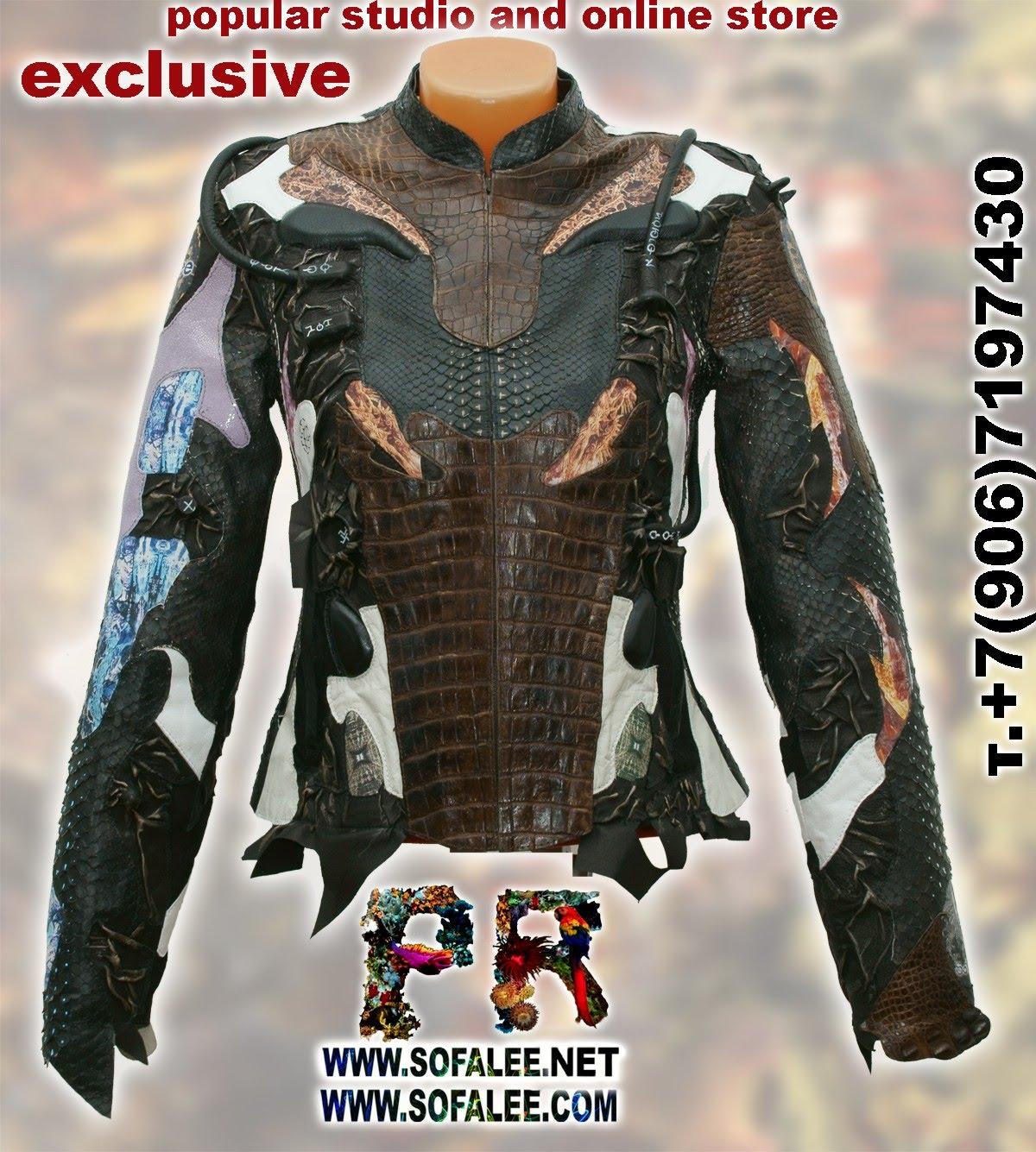 курточка из аллигатора питона ската 03