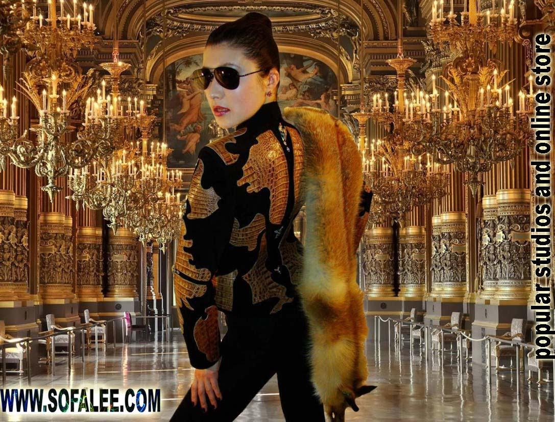 Эксклюзивная куртка из кожи крокодила. Exclusive womens jacket of alligator skin