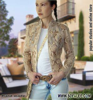 Online-store jacket of python.Жакет из кожи питона