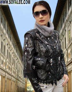 Stylish, chic jacket of leather.Кожаный жакет-трансформер