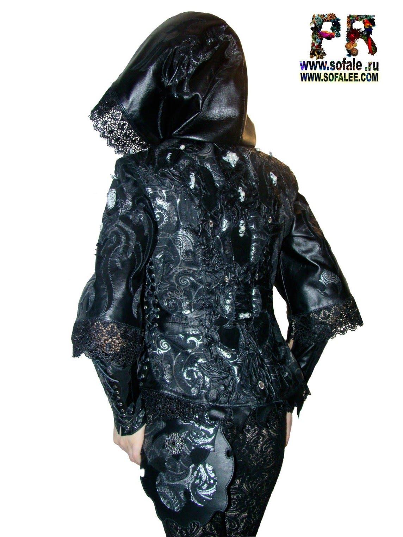 куртка кожаная женская с сумочкой