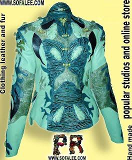Куртка кожаная от дизайнера sofalee