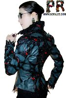 Куртка из натуральной кожи с кружевами недорого.