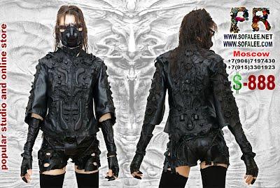 Куртка женская кожаная черная эксклюзив