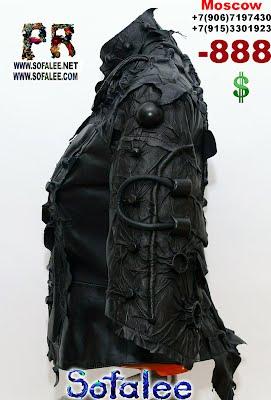 черная кожаная куртка космический стиль 07