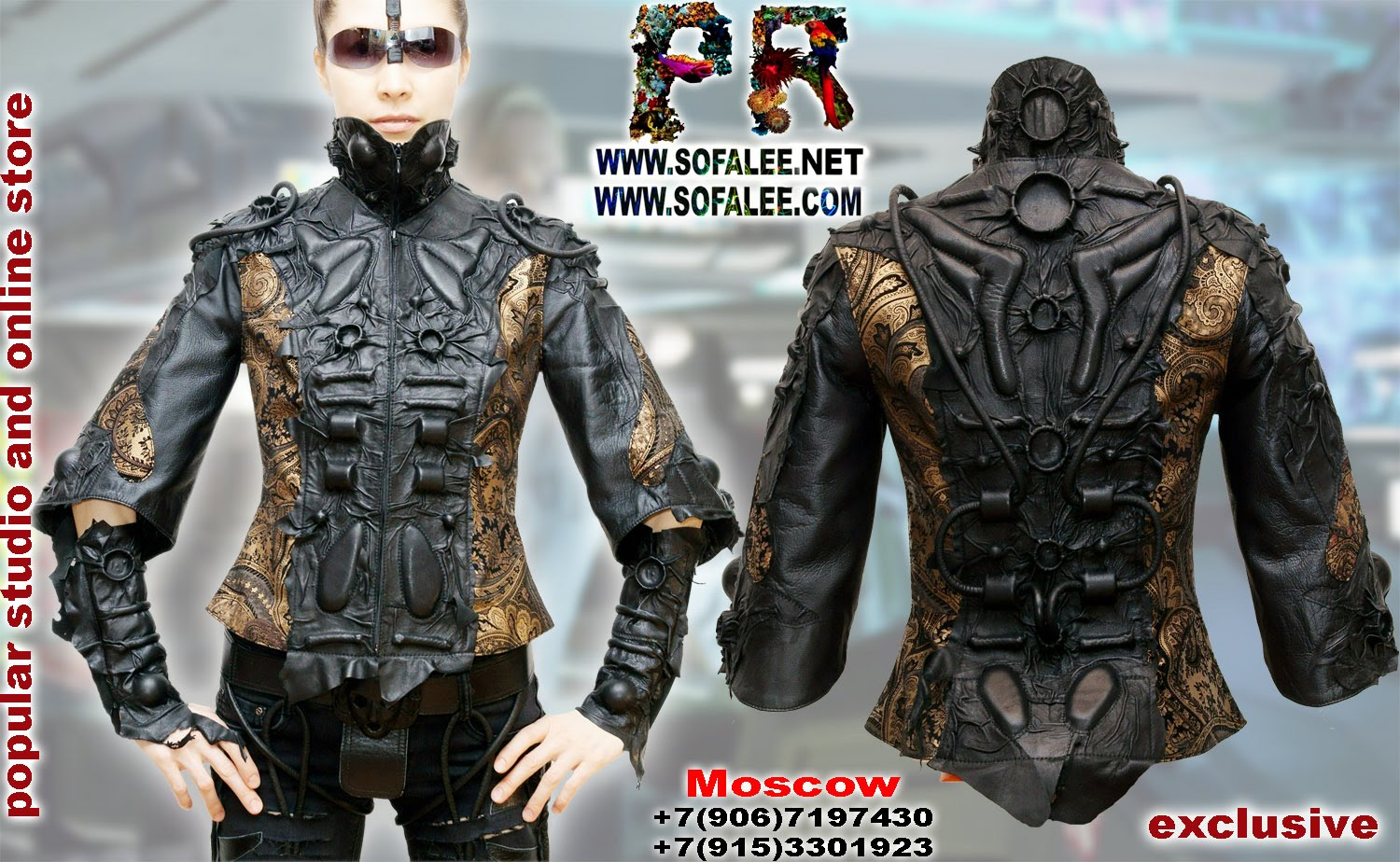 Leather jackets women by sofalee 00005