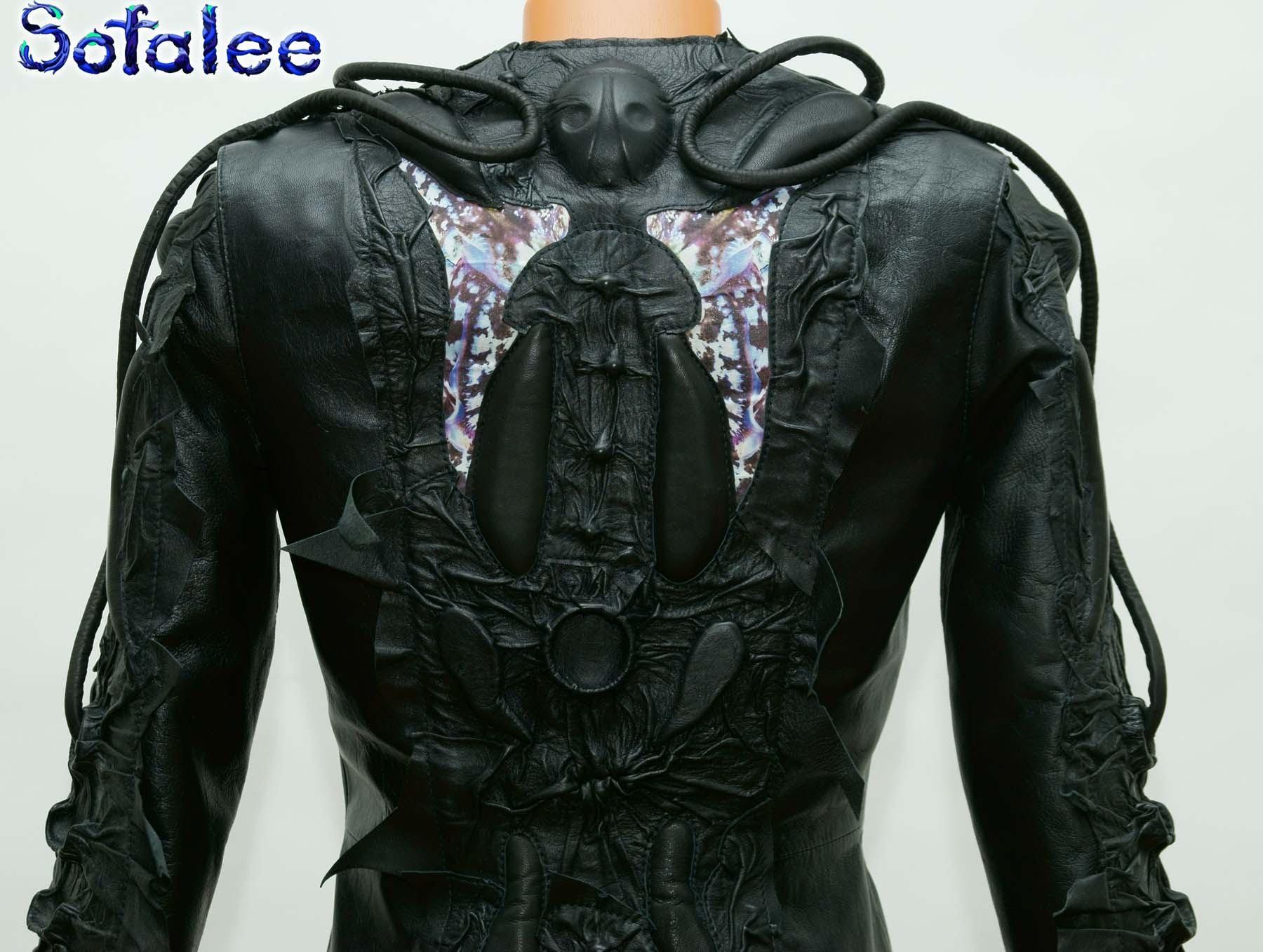 панк куртка из кожи 000
