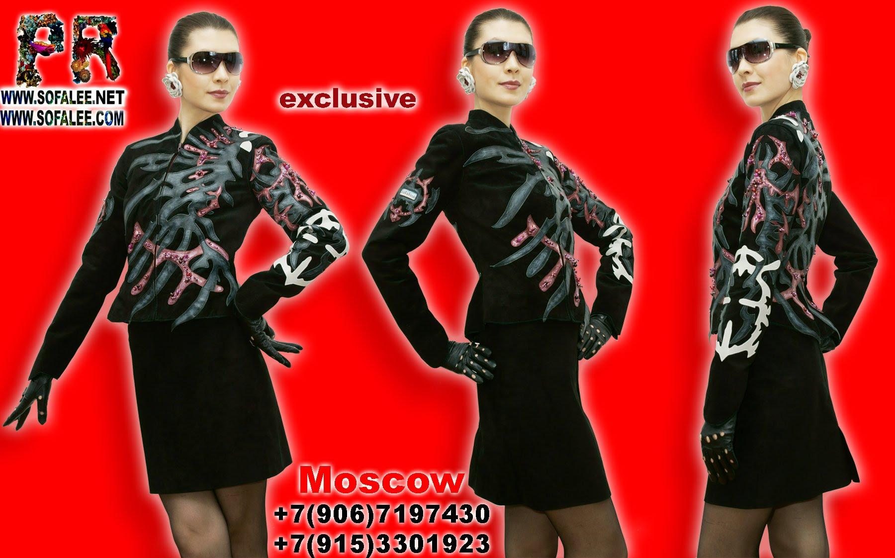 женственная дизайнерская кожаная куртка 00011