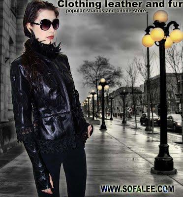 Эксклюзивная куртка-жилетка из итальянской кожи с воротником из перьев марабу