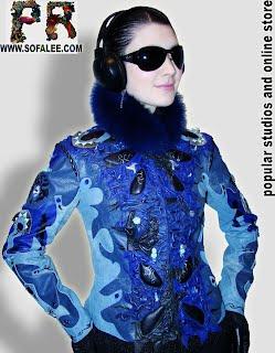 Брендовая кожаная куртка весна-лето 2012.