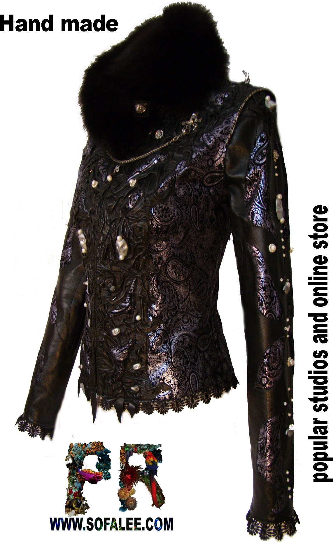 Chic laether jackets for ladies