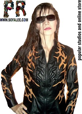 womens leather jacket by designer sofalee