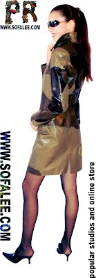 Womens suuit of leather