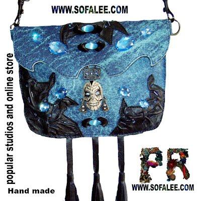 Поясная кожаная сумка