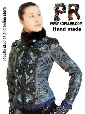 Стильная женская куртка кожаная