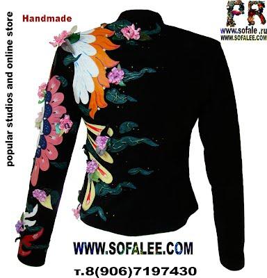 Эксклюзивная авторская женская куртка замшевая фото фото 03