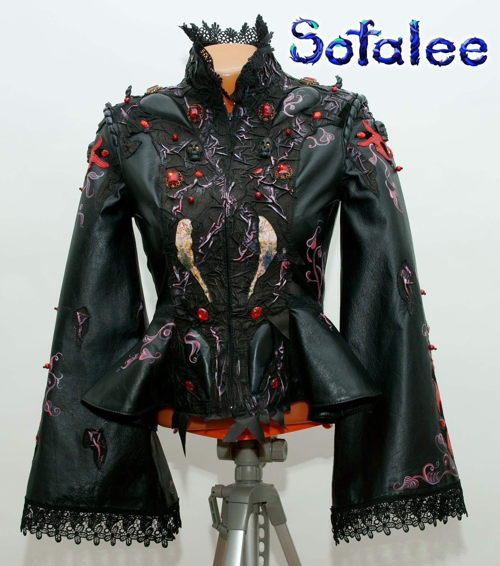 кожаный костюм юбочный