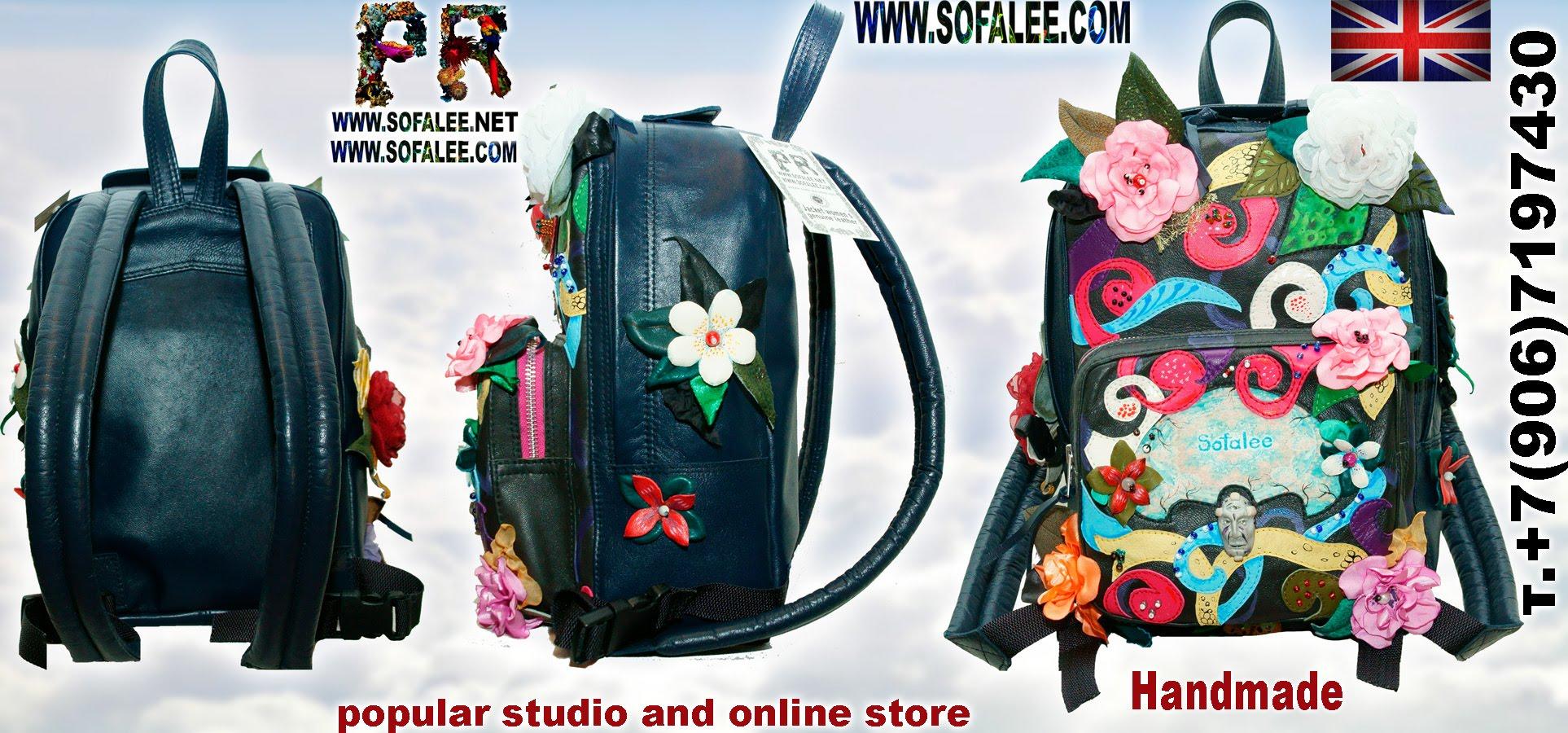 genuine leather backpack 009