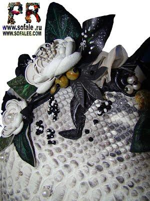 Сумка из натуральной кожи питона и ремень из питона фото 2