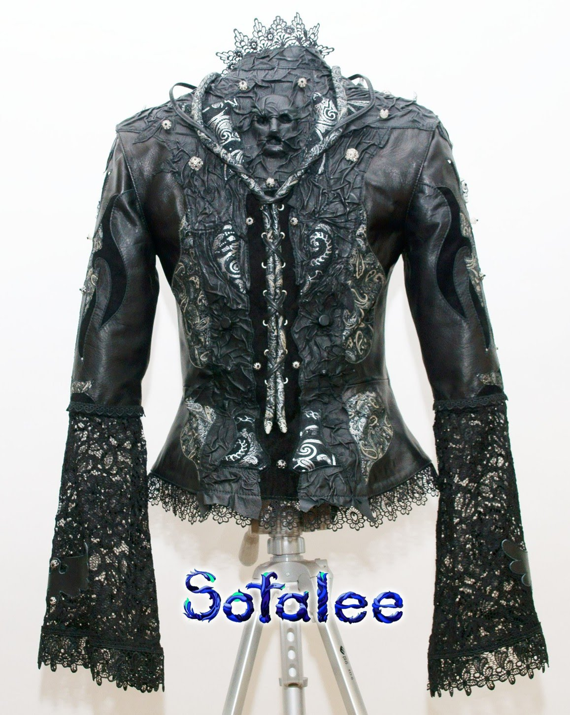 nice women's jacket of leather 00