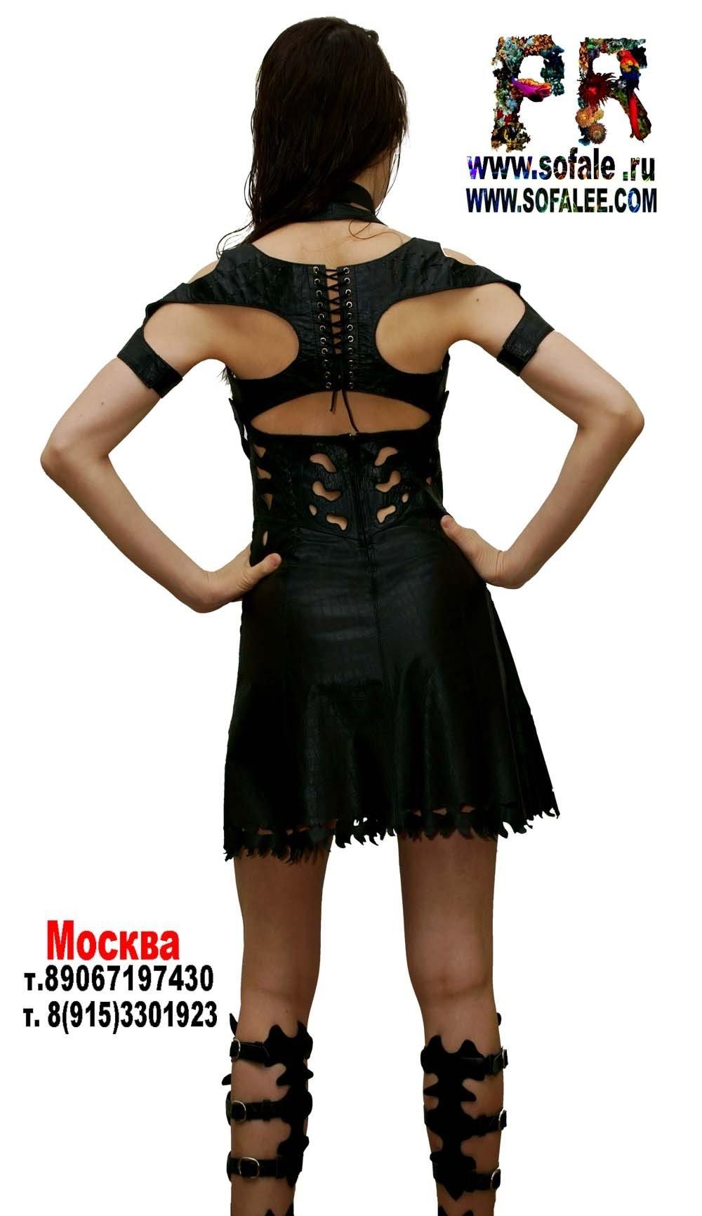 платье из натуральной кожи 3