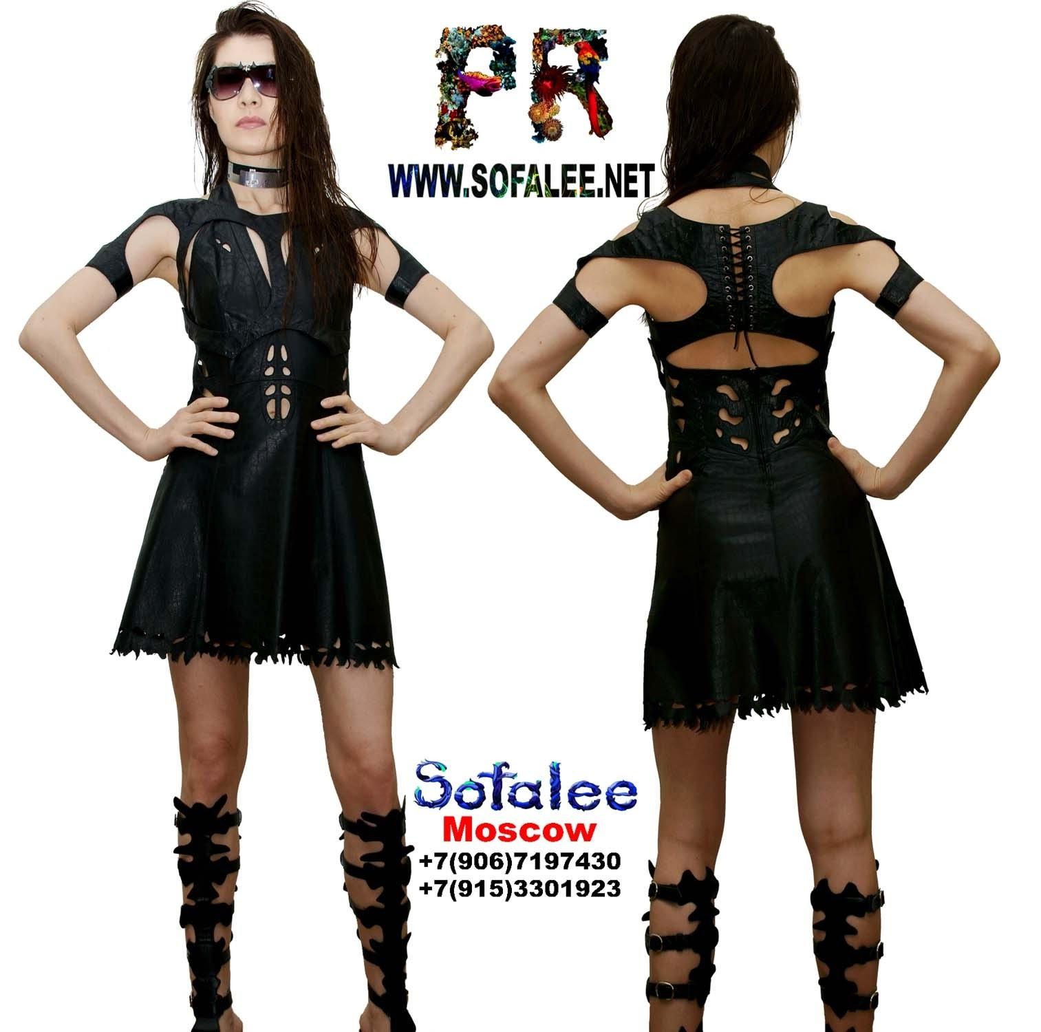 платье из натуральной кожи 1