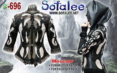 кожаная куртка с кружевами от Софали 00