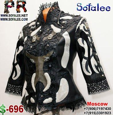 кожаные куртки с кружевами от Софали