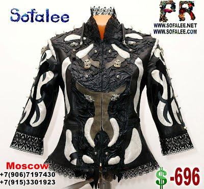 изысканная средневековая кожаная куртка от Софали 00