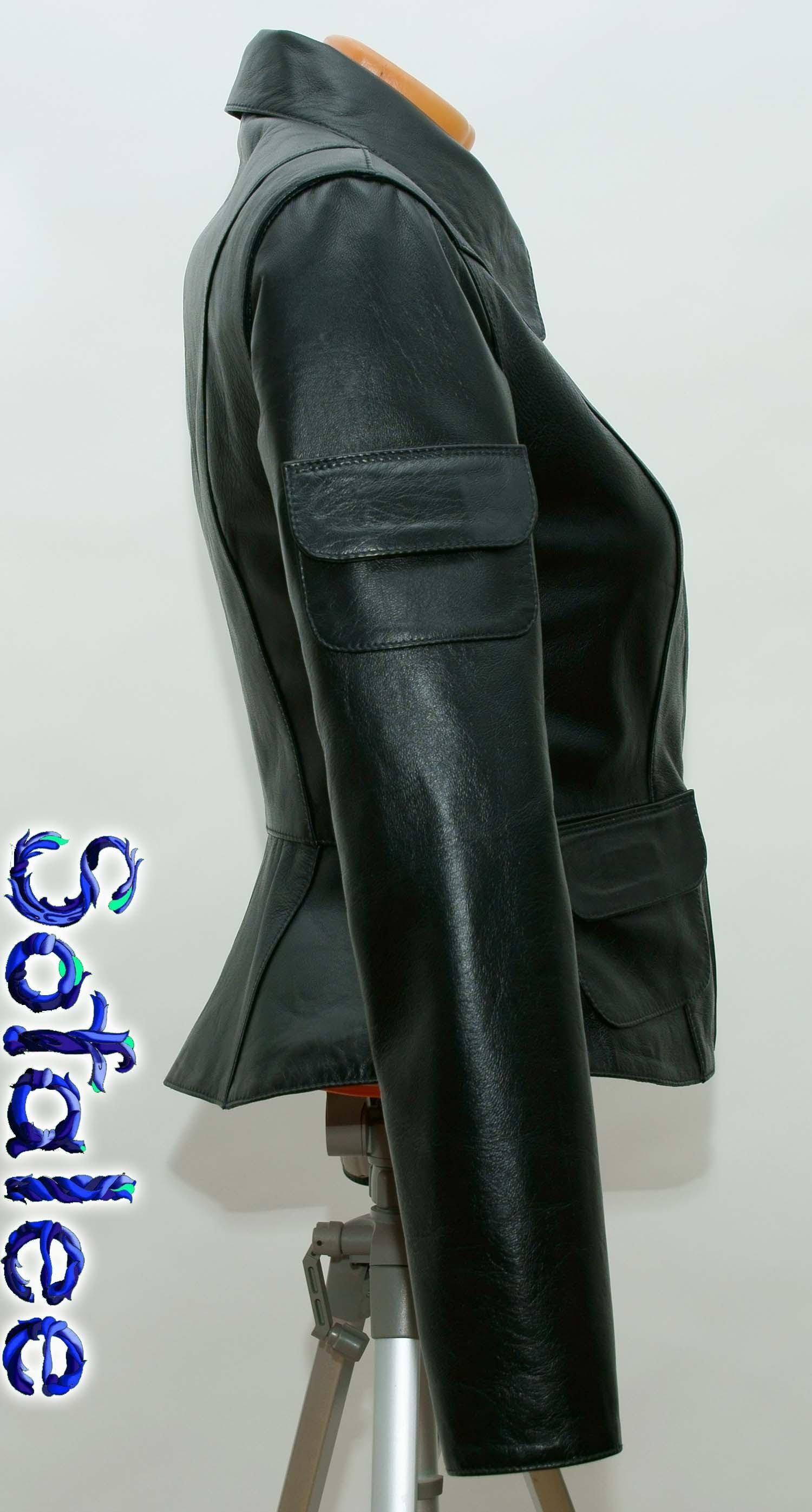 костюм классический кожаный женский 0000
